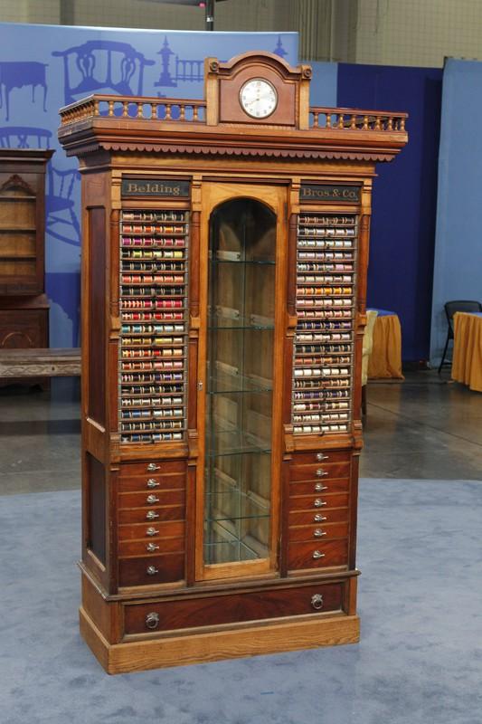 Belding Bros  Co Thread Spool Display Cabinet ca 1880