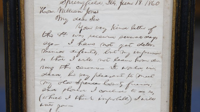 1860 Abraham Lincoln Signed Letter Antiques Roadshow PBS