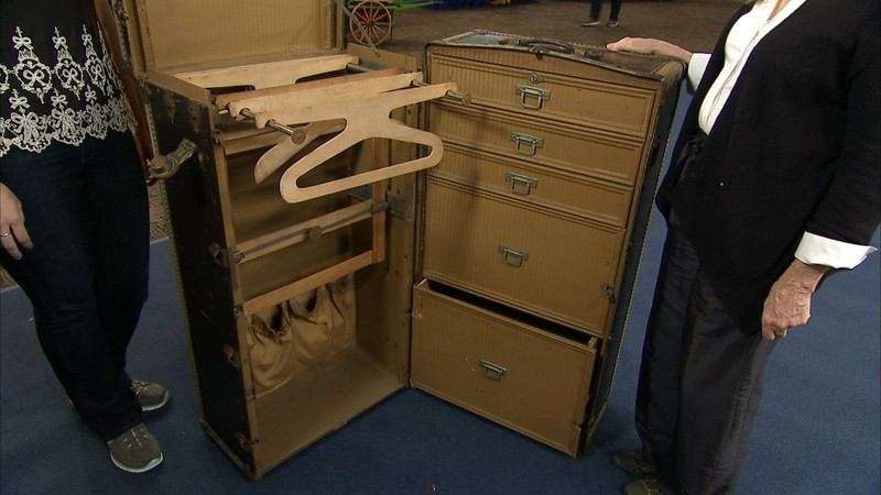 Herms Steamer Trunk ca 1910  Antiques Roadshow  PBS
