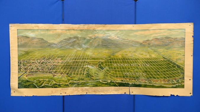 Ogden Utah Birds Eye View ca 1915  Antiques Roadshow
