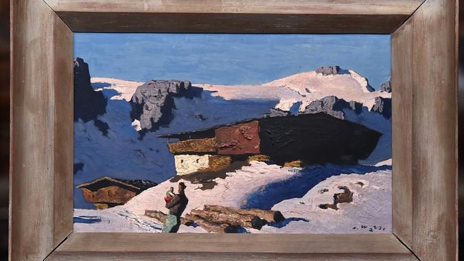 Alfons Walde Oil Painting ca 1935  Antiques Roadshow  PBS
