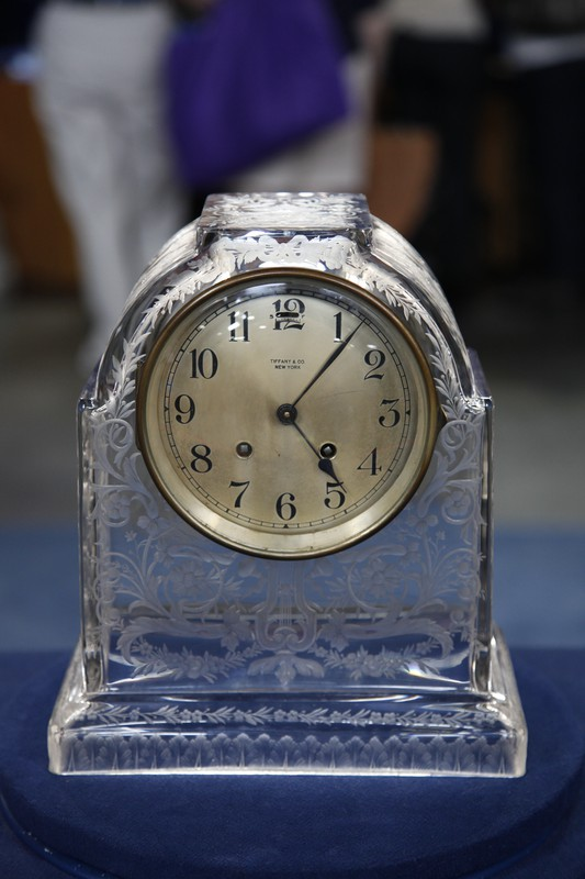 Early 20th Century Tiffany Mantel Clock With Sinclaire