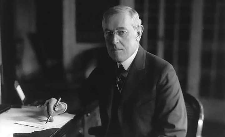 Woodrow Wilson 1918 Courtesy Library Of Congress