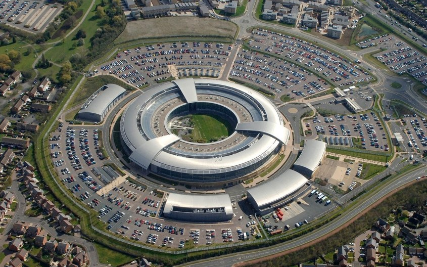 GCHQ, Britain's intelligence centre, seen from the air