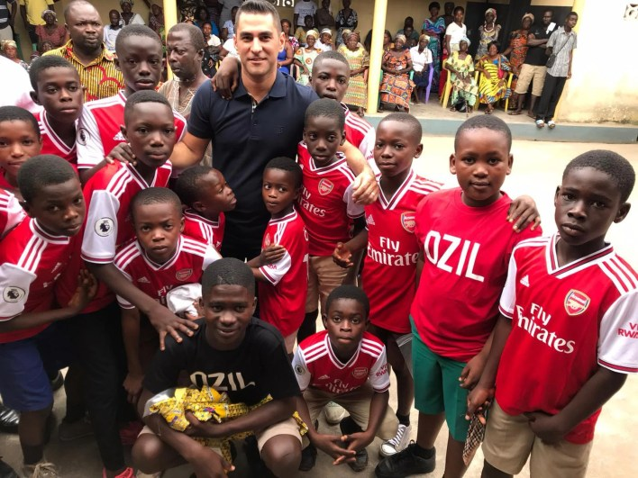 Ozil's agent Dr Sogut Erkut says his client is hugely dedicated to helping those in need