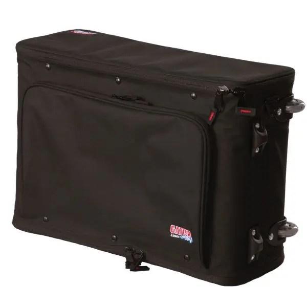 gator cases gr rackbag 2uw lightweight rolling rack bag