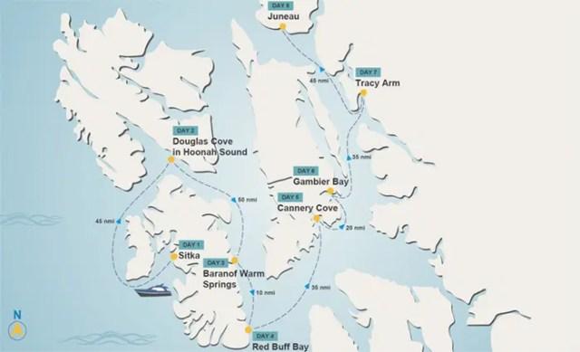 Sitka To Juneau Charter Itinerary Worldwide Boat