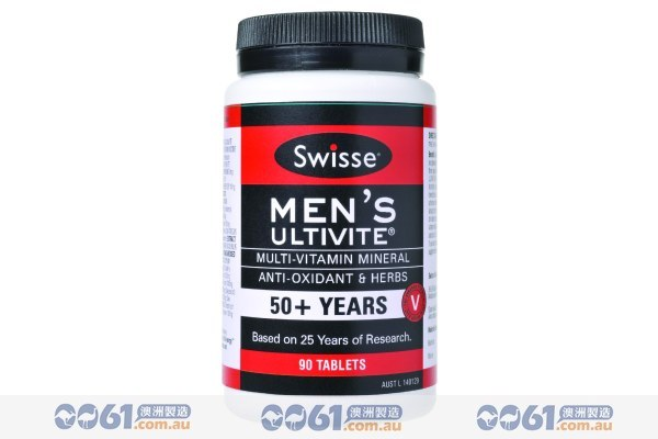 澳洲SWISSE復合維生素90粒 中老年男士專用-0061澳洲制造