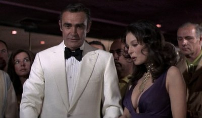 James Bond and Plenty O'Toole meet in a casino in Diamonds Are Forever