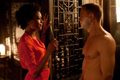 Naomie Harris made her debut as Moneypenny in Skyfall