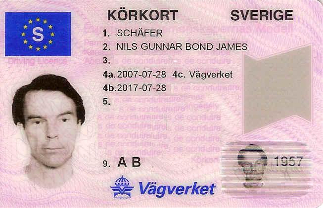 Skatteverket godkände namnbytet 2007 till Bond...James Bond