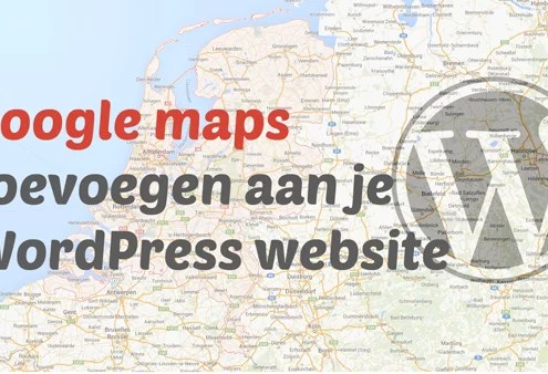 google maps toevoegen in wordpress