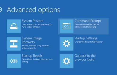 advanced options windows