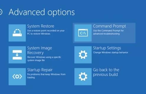 advanced options windows