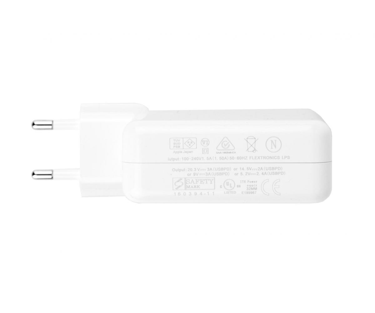 Apple MacBook Pro oplader, 61W, USB-C. USB-C kabel. A1706