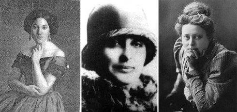 Savka Subotić (prva predsednica društva), Delfe Ivanić (prva potpredsednica Kola) i Nadežda Petrović (jedan od idejnih tvoraca Kola)