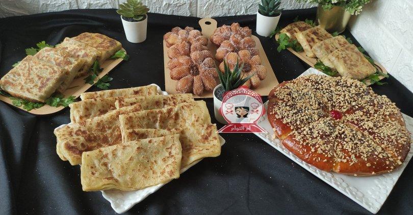 مائدة كوتي للضيوف ب 2 عجينات حضرت هاد الخير كلو