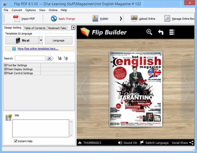 FlipBuilder Flip PDF 4.1.10 Multilingual