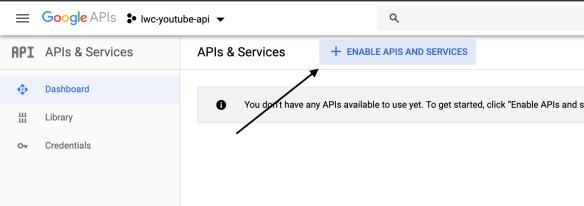 2. Enable API