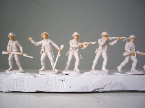 Italeri British Infantry Faces and hands