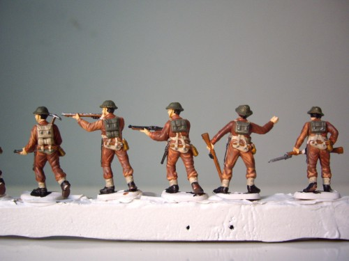 Italeri British Infantry Uniform back