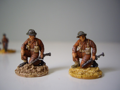 Italeri, British Commando, head changed.