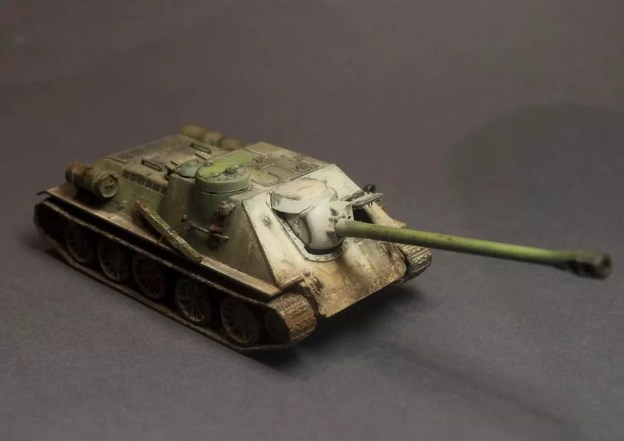 UM – 387 – Self Propelled Gun SU-122P – Finished Model