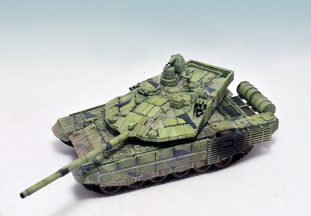 Painting in the tri-color camouflage on the example of the T-90MS. (with modulation)