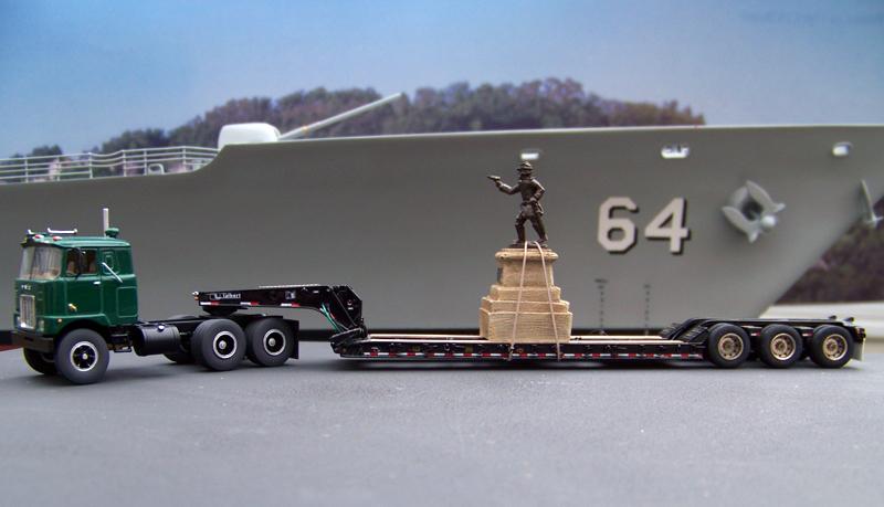 Mack F700 Amp Talbert 55sa Lowboy Trailer