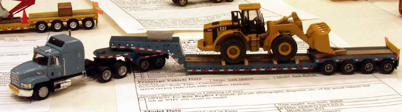 Mack Ch Amp Heavy Duty Lowboy With Cat 966g Loader