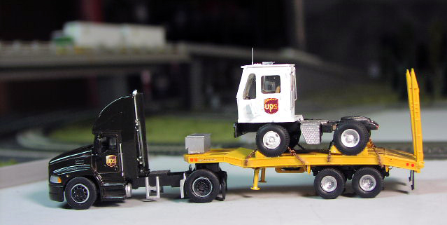 Ups Mack Pinnacle Truck Tractor Amp Lowboy With Yard Tractor