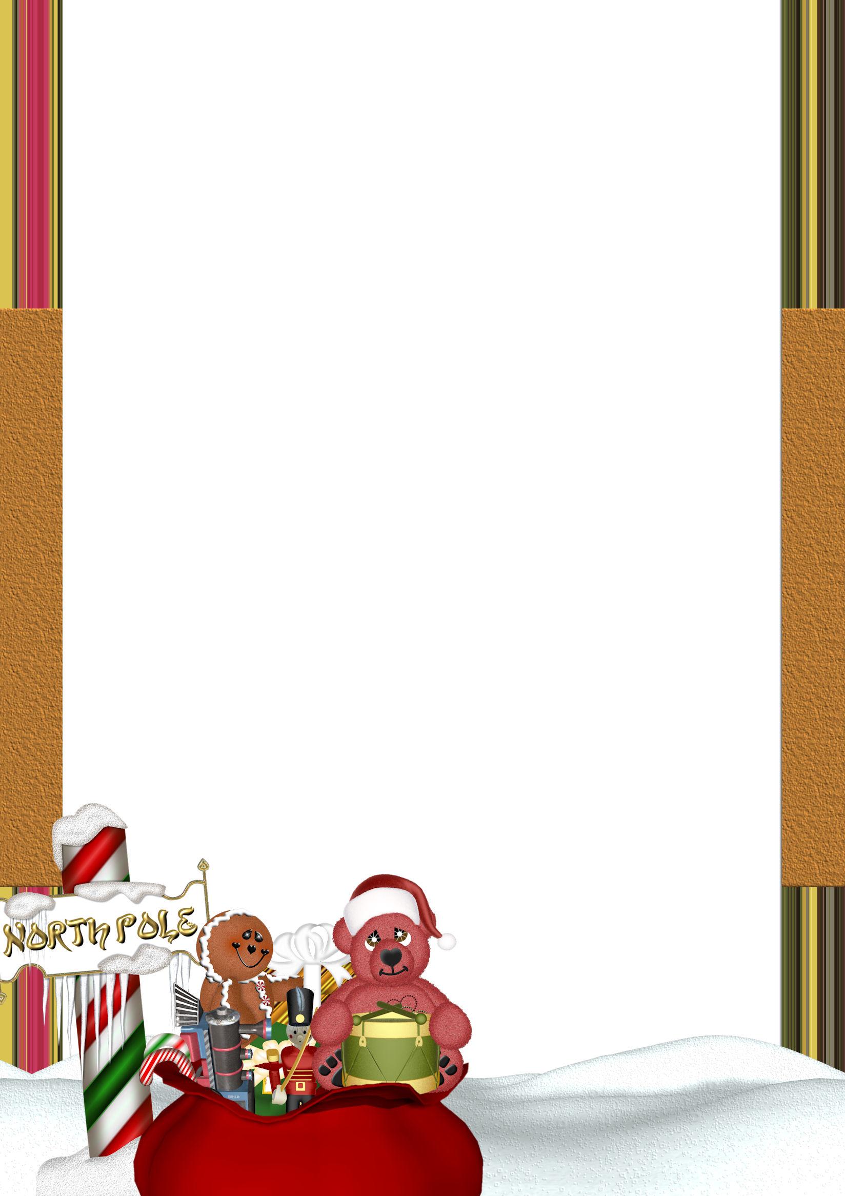 A4 Christmas Theme FREE Stationery Pg 2