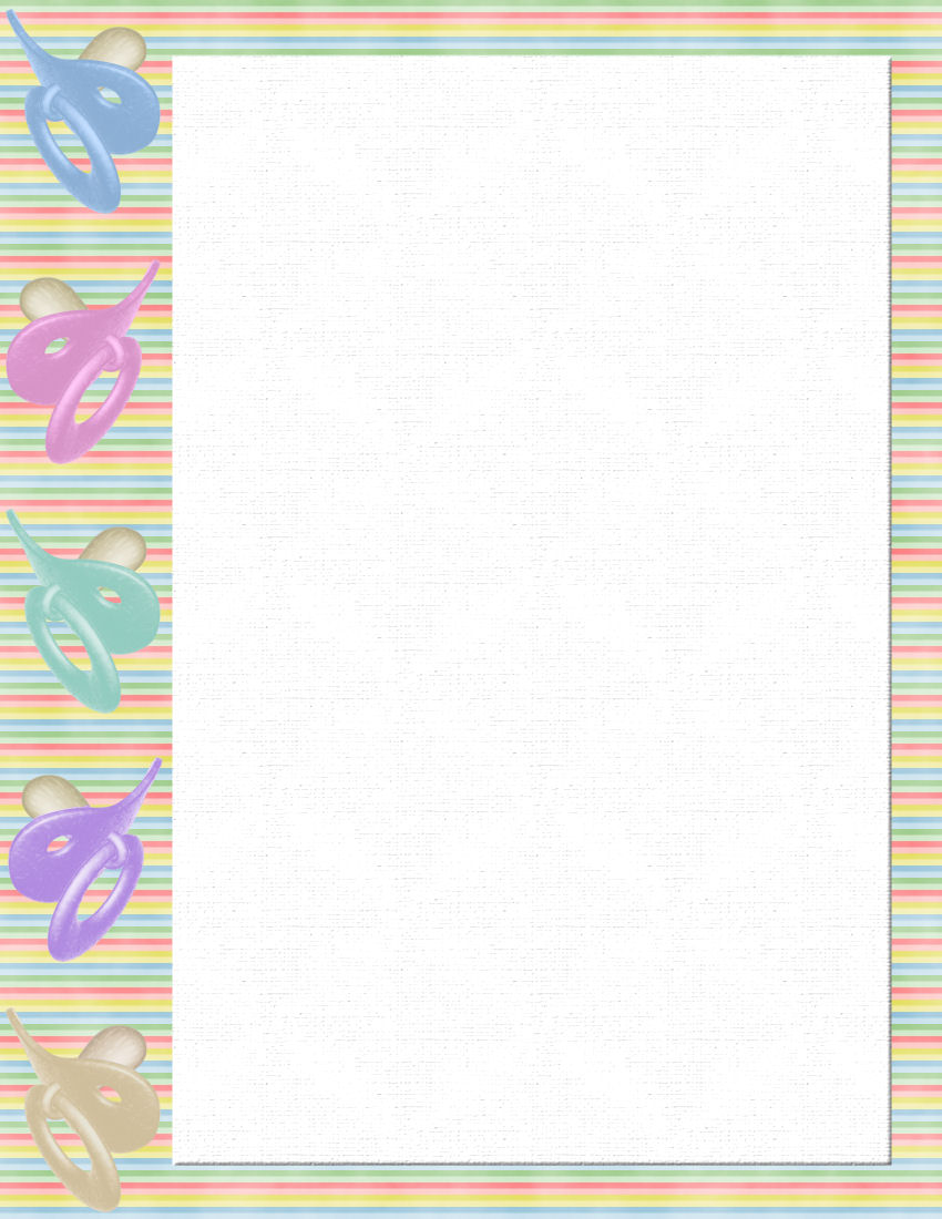 baby themed free stationery