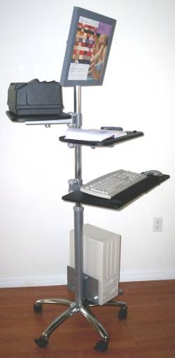 VC02 LCD Monitor Computer Pole Cart