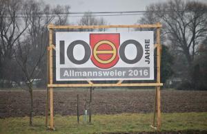 Es ist unübersehbar: Allmannsweier feiert in diesem Jahr Foto:© Thorsten Mühl