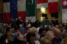 Schnell füllt sich die Silberberghalle in Allmannsweier. Foto: S. Leppert/Förderverein