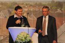 Weltenbummler Hannes Mundinger im Gespräch mit Josef Gruseck Foto: J. Lehmann