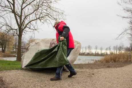 """Einweihung des Jubiläumspfads """"Rund ums Grünloch"""" am 20. Februar 2016 Fotos: S. Leppert für Förderverein 1000 Jahre Allmannsweier"""