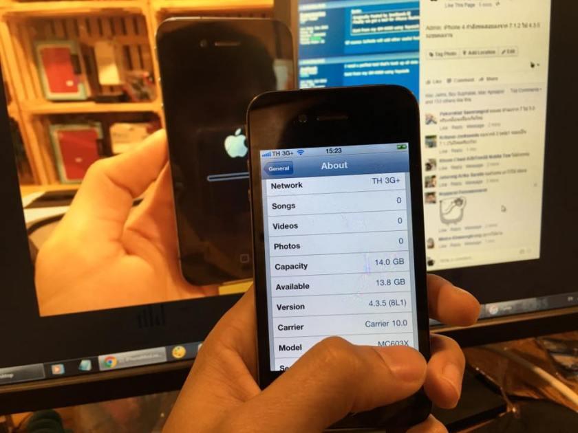 วิธีดาวน์เกรด iPhone 4 จาก iOS 7.1.2 ไป iOS 6.xx และ 4.xx ด้วย 3utools