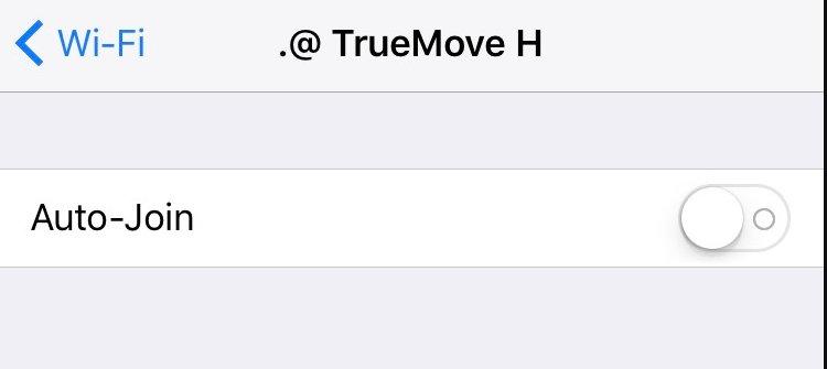 ซิมทรู และ iOS 10.3.1 จะต่อกับ True Wi-Fi อัตโนมัติ หากไม่ได้สมัครแพ็กเกจ จะถูกคิดค่าบริการนาที 1 บาท