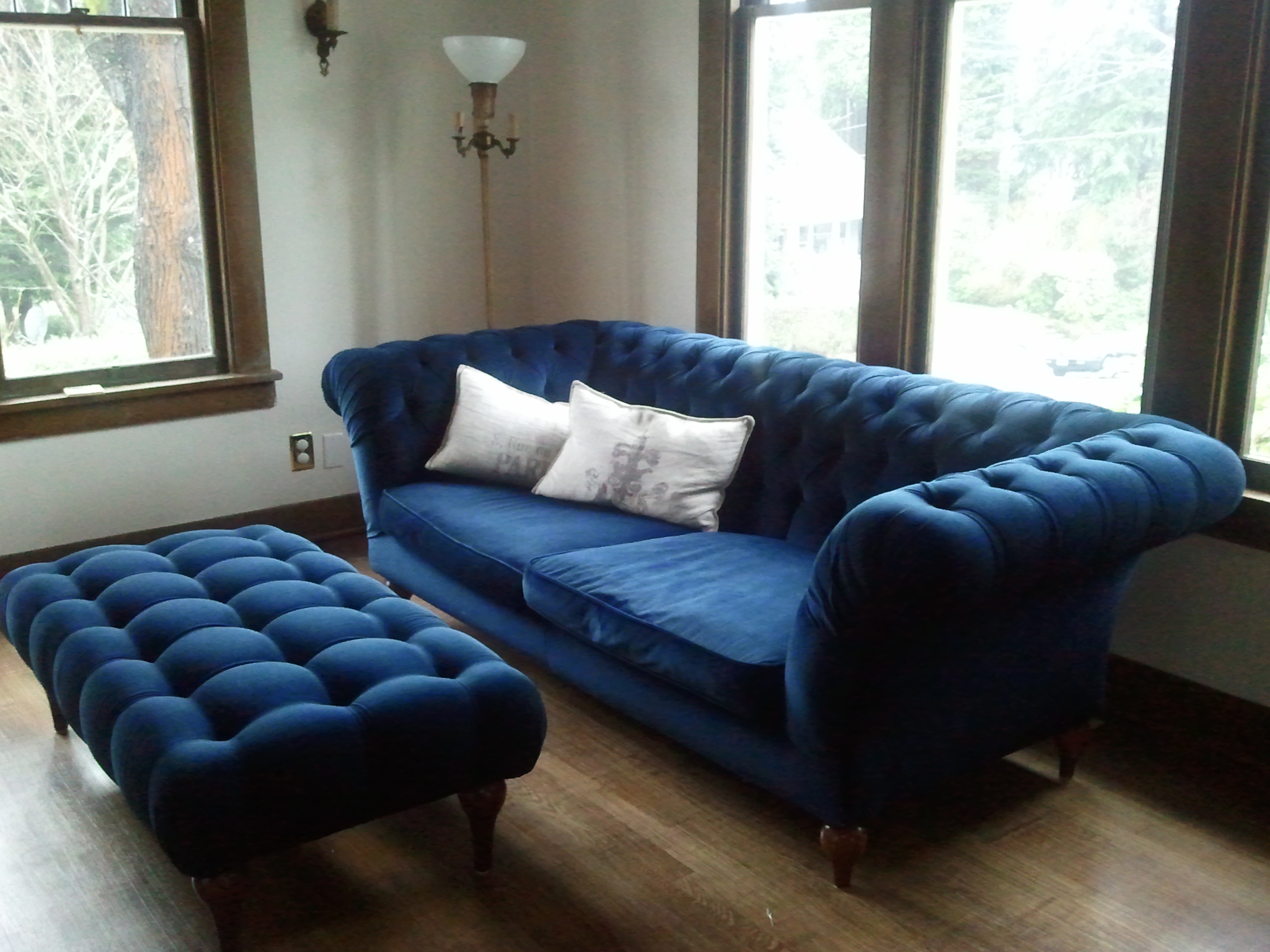 Tan Denim Sofa