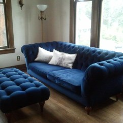 Navy Blue Velvet Sofa For Small Space Chesterfield 1000 Wonderful Things