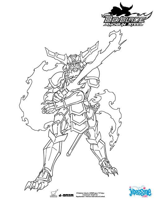 Coloriage BEYBLADE Samurai Ifrit