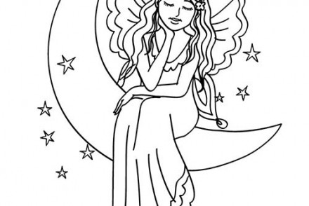 Coloriage FEE Coloriage d'une FEE