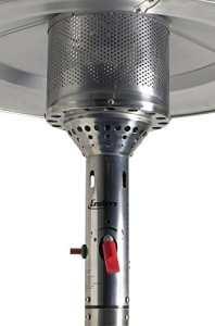 Favex 8530036 Gaz Cosy Parasol Chauffant Rotin 70 x 70 x 230 cm