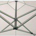 Actiexpress Tente pliante Barnum Pliant Tonnelle Pro 4X8 en aluminium 50mm toit 300g/m² PVC (Rouge)