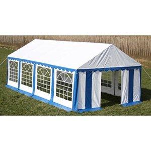 Festnight Toile de Rechange pour Tente de Réception 10 x 5 m en Bleu et Blanc
