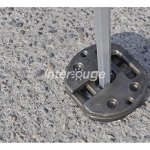 INTEROUGE Poids de lestage 8KG pour tente pliante Pro barnum tonnelle fixation vendu en lot de 2 pièces