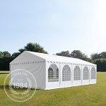 Tente de réception 5×10 m – anti-feu H. 2,6m blanc PVC 550g/m² pavillon 100% imperméable