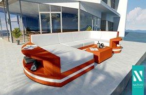 nativo© Luxe Meubles de jardin en rotin Canapé lounge Atlantis XL V2Designer Extérieur Meubles